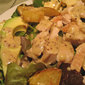 Salad with Potatoes, Turkey and Avocado; changing for spring
