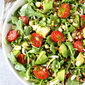 Summer Arugula Salad with Basil Vinaigrette