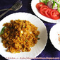 Chickpeas Fried Rice - a spicy plateful to warm your heart when it is pouring outside
