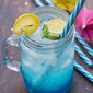 Blue Lagoon Non Alcoholic Curacao Mocktail Recipe