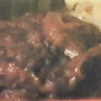Large Beef Patties Baked with Onion Gravy