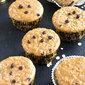 Sourdough Eggless Oatmeal Raisin Muffins Recipe