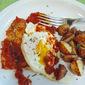 Pork Scaloppini with Marinara and Fried Eggs