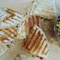 Chicken Quesadillas with Peach and Black Bean Salsa