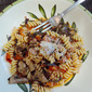 Pasta with Pancetta, Mushrooms, and Chard