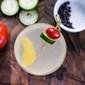 Israeli salad and Israeli salad water martini from Zahav.