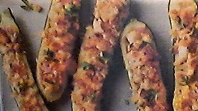 Stuffed Zucchini Halves