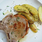 Roasted Brined Pork Chops with Steamed Potatoes