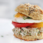 Everything Biscuit Sandwich with Smoked Whitefish Schmear