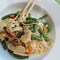 Chicken and Green Bean Stir-Fry with Rice Noodles