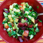 Peach, Plum, and Avocado Salad