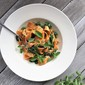 sweet potato pappardelle with greens and goat cheese