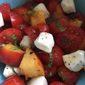 Fresh Summer Peach, Tomato and Mozzarella Side Salad