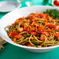 Cold Linguine with Artichokes and Roasted Peppers