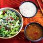 Cold Shirataki Noodles with Lettuce and Chili Sauce