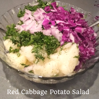 Colorful Red Cabbage Potato Salad