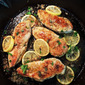 Chicken Piccata with Sliced Lemon