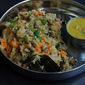 Protein Masala Upma/Masala Vegetable Upma with Black-eyed Peas