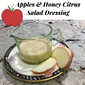 Apple and Honey Citrus Dressing for Rosh Hashanah