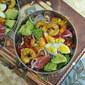 Shrimps, Avocado, Radish, Mixed Vegetables Salad 烤虾蔬菜沙拉