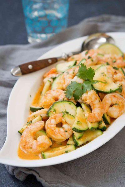 Thai Shrimp Stir Fry Recipe with Zucchini