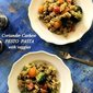 Coriander Cashew Pesto Pasta with Veggies