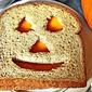 Need Halloween sandwich ideas kids love? Make a Jack-O-Lantern Cheese Sandwich!