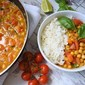 Healthy chickpea curry with coconut milk