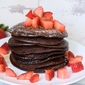 Easy chocolate pancakes, without flour