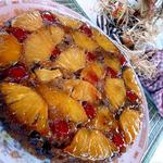 Apple Pineapple Choco Nut reverse cake