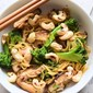 Spicy noodles with mushrooms