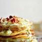 Paneer / Chenna malpua with rabdi / Indian syrupy cheese pancakes with thickened cream