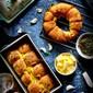 Cheesy Garlic Herb Wreath Bread – Holiday Special