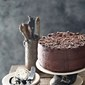 Coffee Mascarpone Layered Cake with Dark Chocolate Ganache
