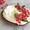 pita toast with labneh & pomegranate