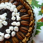 Chocolate Amaretti Nut Marshmallow tart