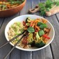seasonal indonesian-inspired tempeh & veggie stir-fry