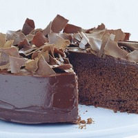 Rich Chocolate Leaf Gateau