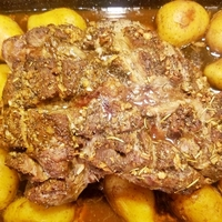 Perfect Leg of Lamb with Roasted Golden Potatoes