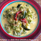 Narkel Doi Jhinge / Ridge gourd cooked with curd and coconut milk