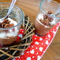 Chocolate Date Coconut Chia mousse