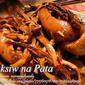 Paksiw na Pata (Pork Hock Sweet Sour Stew)