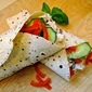 Chicken Salad Wraps with Honey-Yogurt Sauce