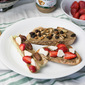 Two Healthy Breakfast Toasts with Almond Butter