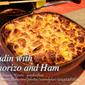 Budin (Filipino Bread Pudding) with Chorizo and Ham