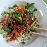 Spiced Lamb Stir-Fry over Rice