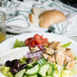Greek Chicken Salad with Lemon Oregano Dressing