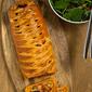 Roasted vegetable Danish braid
