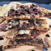 Thin Mint Stuffed Chocolate Chip Cookies
