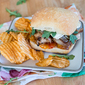 Grilled Chicken and Brie Sandwiches with Mango Chutney and Balsamic Onions